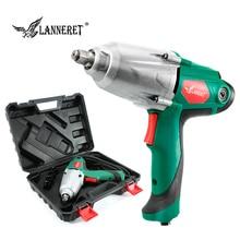 LANNERET 450 Вт Электрический ударный гайковерт 300 нм максимальный крутящий момент 1/2 дюйма Автомобильный разъем Электрический гаечный ключ сменный инструмент для шин