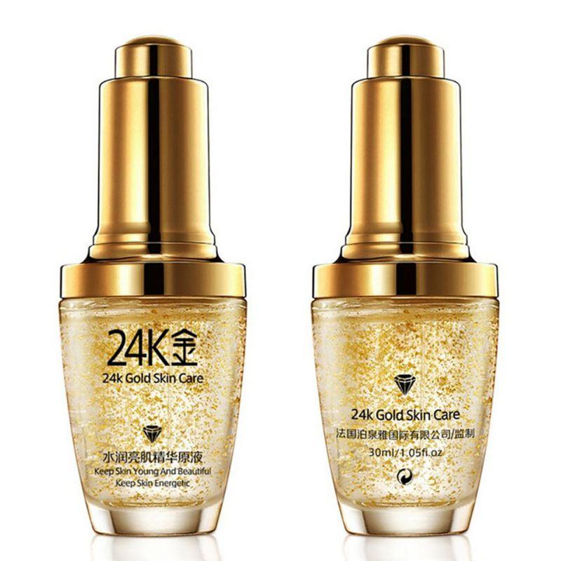 24K Gold Essence Serum Day Cream Anti Wrinkle Face Anti Aging Collagen Whitening  Hyaluronic Acid Serum Facial-s