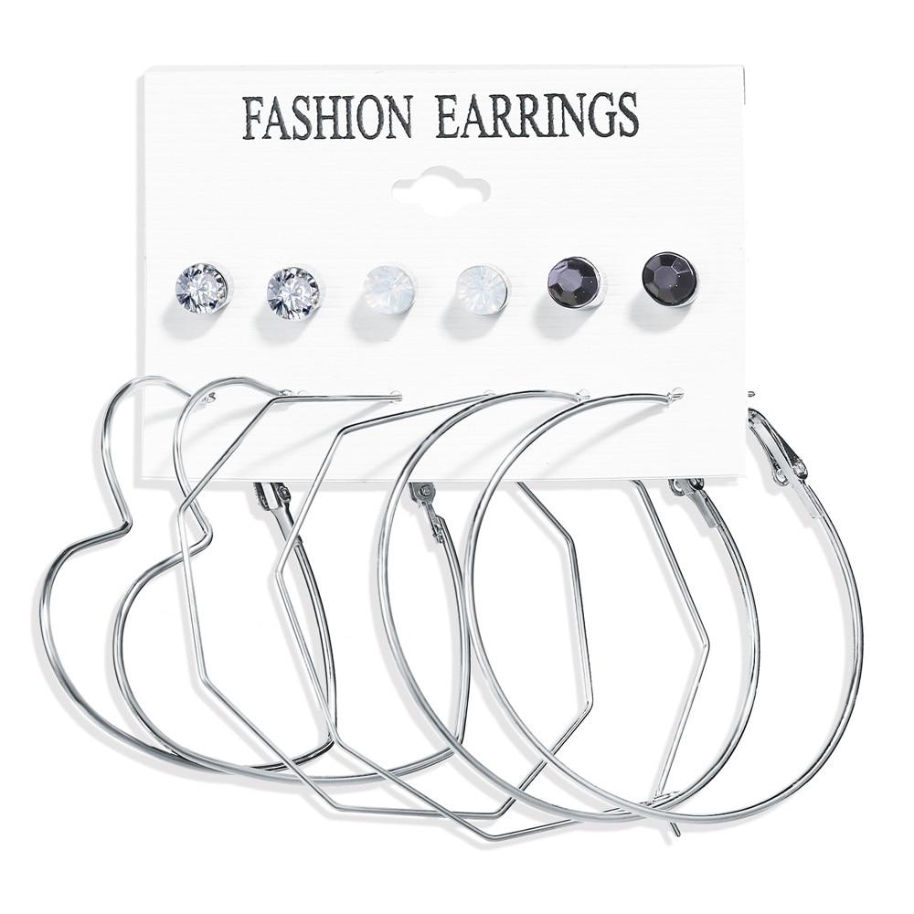 17 км акриловые серьги с кисточками для женщин, богемные серьги, набор больших геометрических висячих сережек Brincos, Женские Ювелирные изделия DIY - Окраска металла: Earrings Set 15