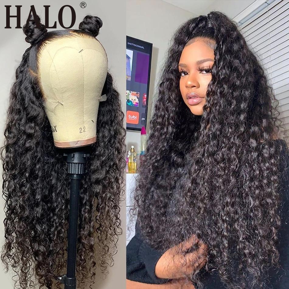 28 30 дюймов дешевые бразильские вьющиеся 13x4 Синтетические волосы на кружеве парики из натуральных волос на кружевной предщипанный бесклеев...