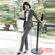Blazer And Pants Office Suit Set Women New Fashion 2 Piece