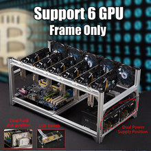 Air Mining Rig Stackable Dual Power Frame Case For 6 GPU ETH BTC Ethereum New Computer Mining Frame Server Chassis Frame Only