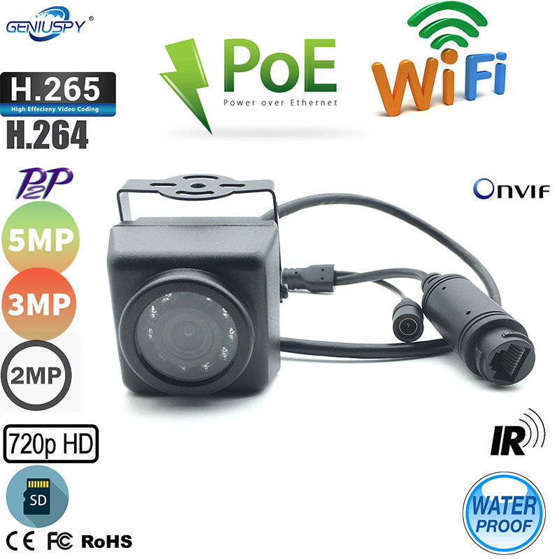 1MP 1.3MP 2MP 3MP 5MP Outdoor Waterproof Micro Wifi POE IR IP Camera With TF Card Slot Phone Remote View For Bird Nest&Car Use