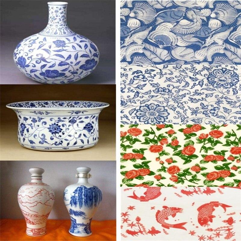 12pcs de Carga Mixta FICI 5PCS Transfer Paper Pottery Herramientas de Esmalte cer/ámico Decal Decal Paper Decal de Alta Temperatura Creative Ceramic Tools