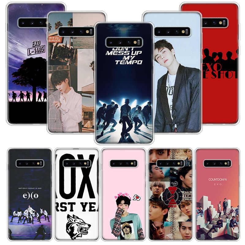EXO Lay Kai Chanyeol Sehun Case for Samsung Galaxy A10 A20E A30 A40 A70 M30S A50S A6 A7 A8 A9 Plus 2018 Soft Phone Cover Coque