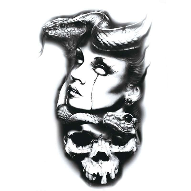 Popular Personality Temporary Sticker Fake Tattoo Fashion Drawing Body Art Water Transfer