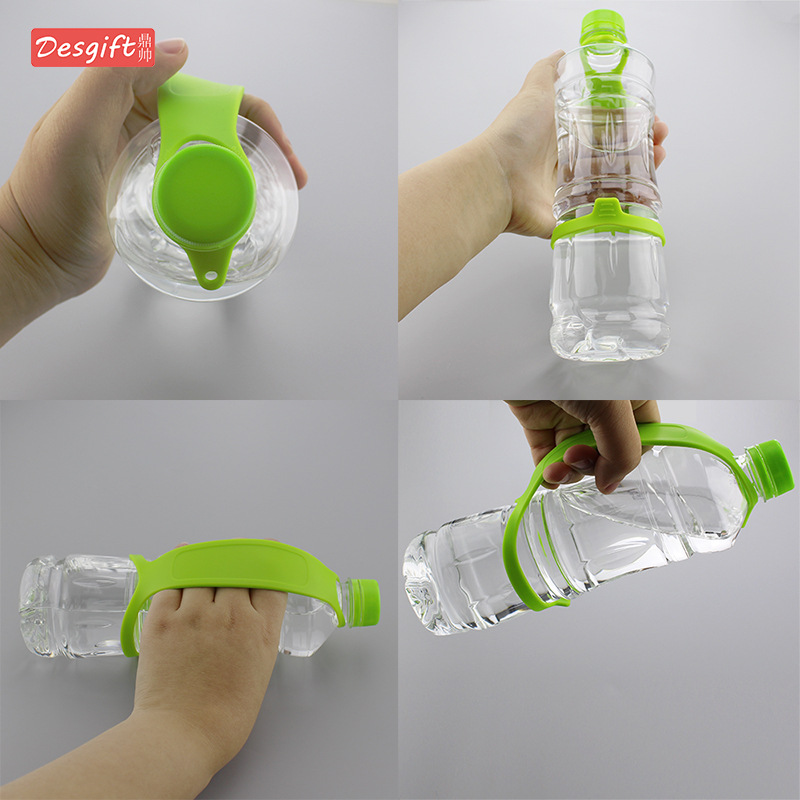Outdoor Mineral Water Bottle With Silicone Water Bottle Lanyard Bottle Mention Wiring Sleeve Shou Wan Ping With Handle Water Bot