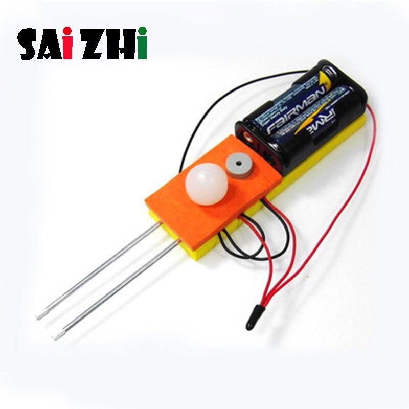 Saizhi Diy Conductivity Meter Developing Intellectual STEM Toy Science Experiment Kit Kids Lab Set Birthday Gift SZ3248