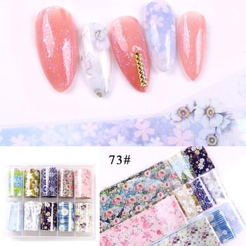 1set/lot 2.5*100cm Butterfly Spring Mix Flower Starry Sky Nail Foils set Transfer Sticker DIY Manicure Decoration Decals - 73