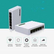 Мини 5 Порты и разъёмы для рабочего стола 1000 Мбит сетевой коммутатор Gigabit быстро RJ45 Ethernet-коммутатор ЛВС коммутирующий концентратор адаптер д...