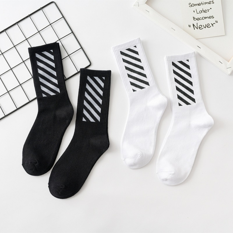 Men's Standard Sock High Quality Man Slash Socks Colorful Unisex High Happy Cotton Sox For Mens Spring Trendy Calcetines Hombre