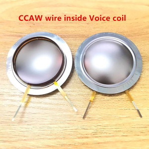 Image 5 - 4 Pcs PURE Aluminum wire Aft Diaphragm For Wharfedale D 533A Driver D533a Evp Series&Titan 8Ohm