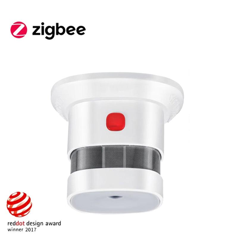 Haozee Wireless Zigbee Smart Anti-fire Alarm Smoke Sensor Smart Home Sensors 2 4GHz High sensitivity Bulit In Battery
