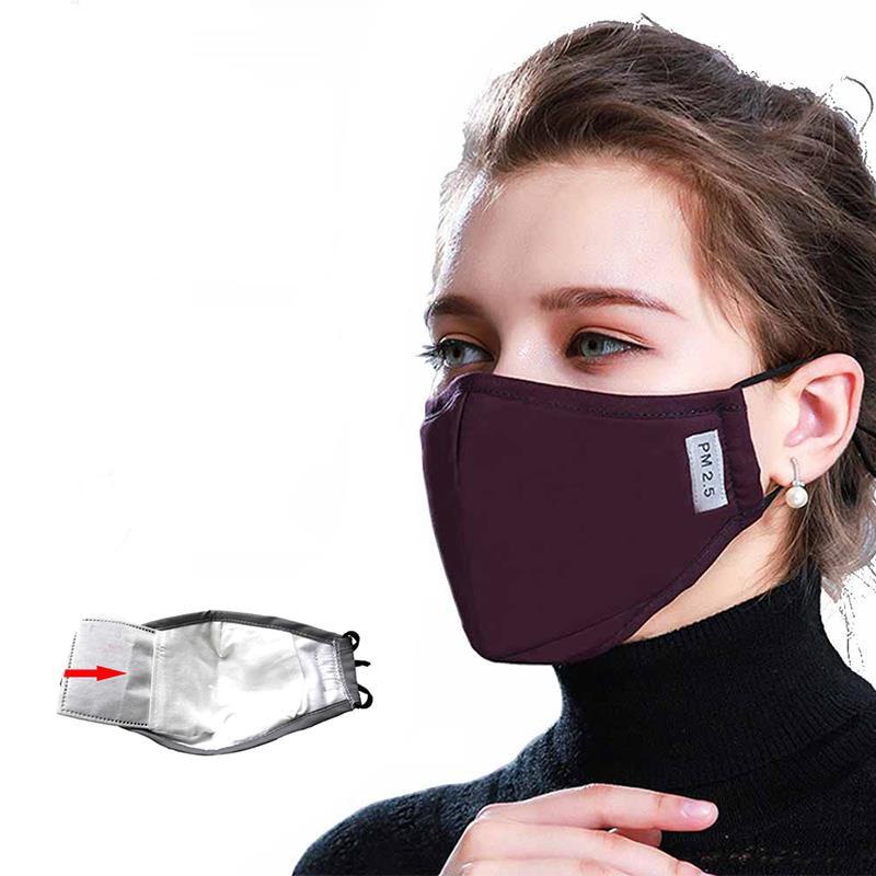 1pcs For Mascherine Antivirus Mask Anti Pollution PM2.5 Mouth Mask Respirator Washable Reusable Masks Cotton Unisex Mouth Muffle