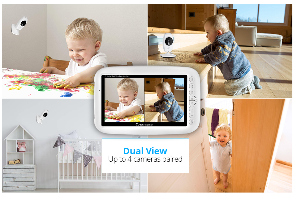 7 Inch Wireless Baby Monitor With 720P HD Screen Camera To Check Your Baby Monitor Screen 19