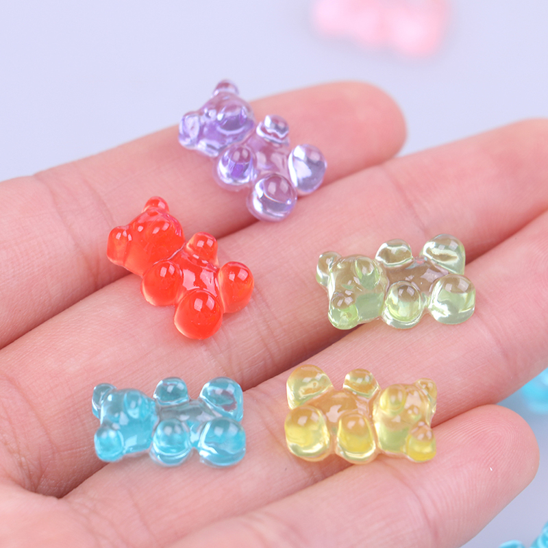 Sprinkles Mini Bear Candy Polymer Slime Box Toy For Children Resin Charms Lizun Modeling Clay DIY Kit Accessories Kids Gift(China)