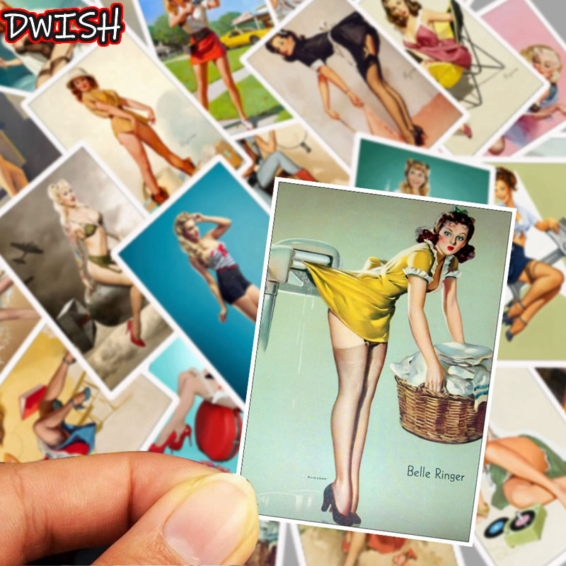 25Pcs Mixed Soviet Union Stalin USSR CCCP Sexy Girl Poster Stickers Skateboard Guitar Suitcase Graffiti Sticker Kids Classic Toy