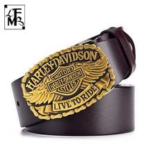 [LFMB]Men's Leather Belt High Quality Genuine Leather Cowhide Belt Leather Belt Rock And Roll Wild Casual Belt