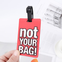Neuheit Persönlichkeit Nette Brief PVC Gummi Koffer Label Gepäck Tag Handtasche Anhänger Reise Zubehör Name ID Adresse Tags