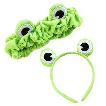 2 шт милый лягушка глаз обруч для волос и повязка на голову