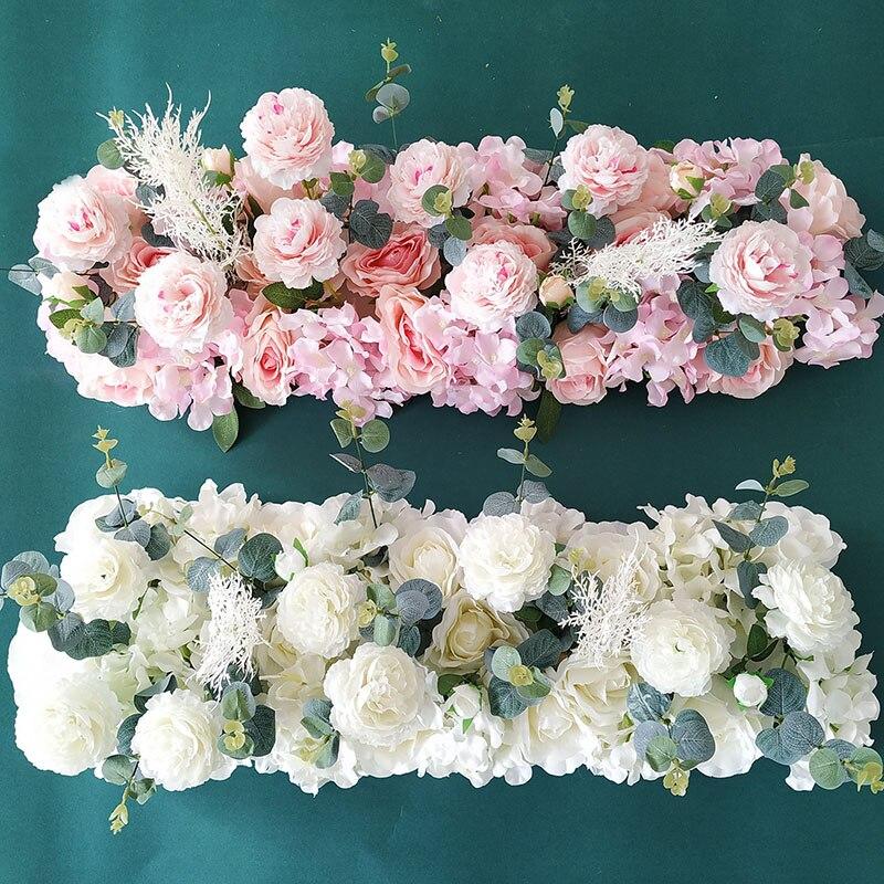 50/100cm DIY boda arreglo de pared de flores peonías de seda Rosa Artificial hilera de flores decoración de la boda arco de hierro telón de fondo guirnalda 5D DIY pintura de diamantes de la religión de cristal pintura de diamante punto de cruz escénico costura ala de Ángel amor hogar decorativo BJ688