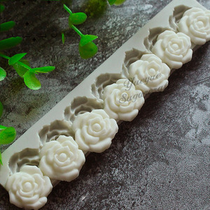 Image 3 - Gül çiçek silikon kalıp fondan kalıp kek dekorasyon araçları çikolata Gumpaste kalıp pişirme araçları