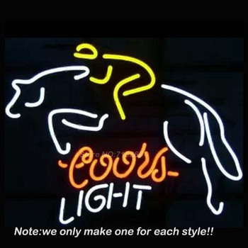 Coois Light horse riding Neon Light Signs For Business bar Glass tube neon lamp grow light night light For Bedroom led lamp