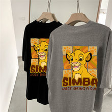 Disney Simba Frauen Harajuku Kurzarm Nettes Hemd O Neck Top Plus Größe Frauen T-shirt Kleidung Lion King Cartoon Print T shirts