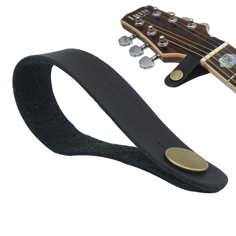 Portable Durable Leather Guitar Strap Holder Button Safe Lock With Strong Metal Fastener,Fits Above Neck On Headstock