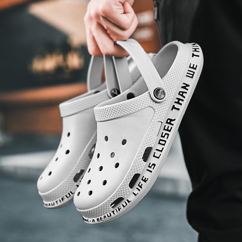 2020 New Crocse Summer Men Sandals Garden Shoes Men Shoes Male Clogs Breathable Beach Shoes Women Outdoor Walking Homme Slipper