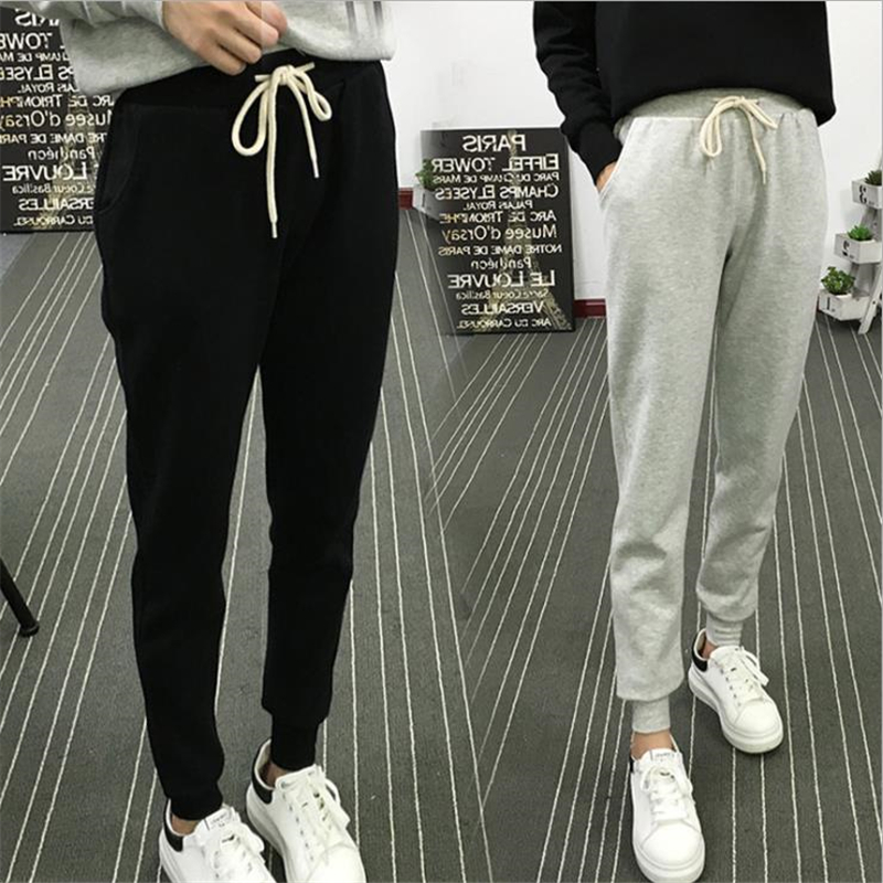 New Active Women Sweatpants  Spring And Autumn New Loose Pants Female Feet Trousers Large Size Thin Pants Casual Pants