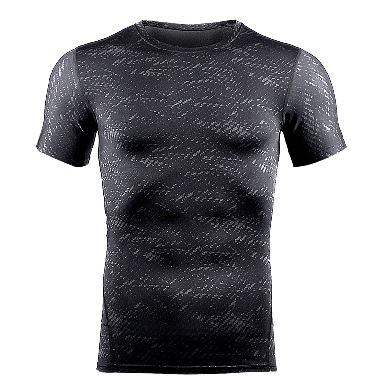 running - Compression T Shirt Workout Sport Running T-shirt Short Jogging Tshirt Men Fitness Jersey Rashgard Gym Athletic Tops Clothing