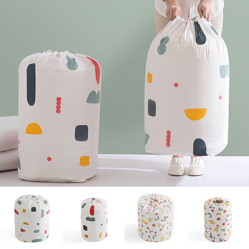 Home Portable Drawstring Moisture-proof Storage Bag Pouch Quilt Clothes Blanket Home Bedding Organizer Luggage Bag Space Saving