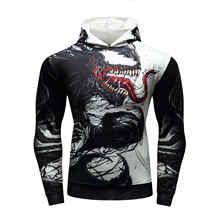 Толстовки с капюшоном модная мужская Толстовка скейтборд куртка с капюшоном модная уличная одежда в стиле «хип-хоп» для мужчин печати Venom-фильм Толстовка