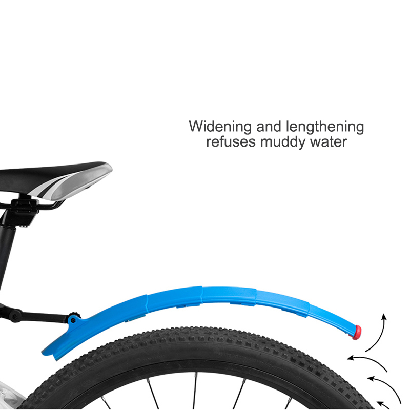 2pcs Bicycle Fender Front Rear Retractable Black Bicycle Fender for Bicycle Bike