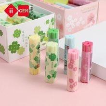 1pc criativo trevo sakura kawaii borracha lápis ferramenta de correção papelaria presente da escola para crianças