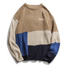 ICPANS Kintted Women Men Pullovers Sweater O Neck Pacthwork Stripe 2019 Winter Autumn Kintting Pullovers Men