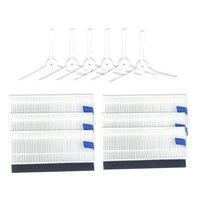 Escova principal escovas laterais lavável heap filtro para 360 s6 robô aspirador de pó peças reposição acessórios
