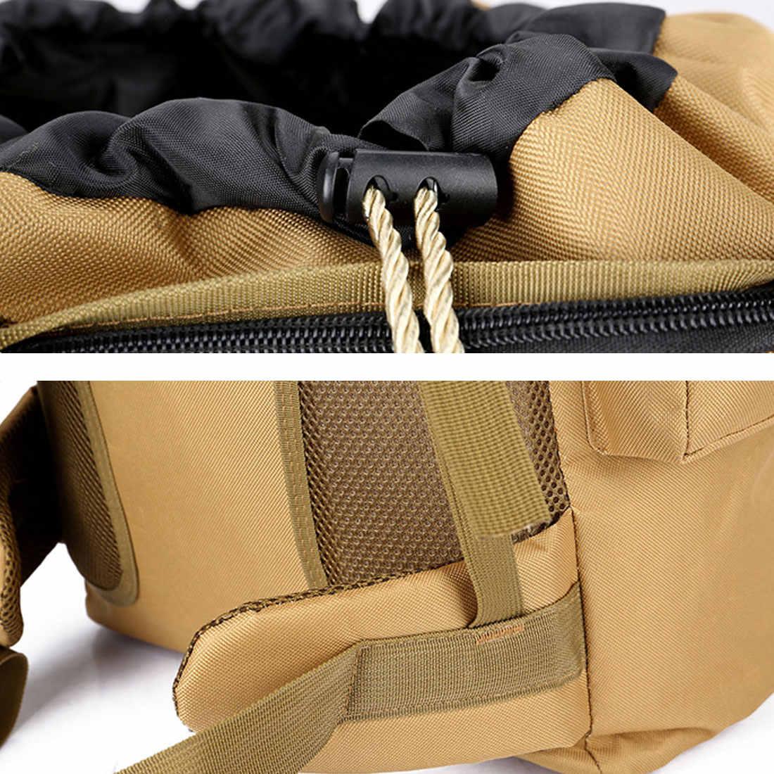 大型軍用バックパック 70L 防水戦術的な黒アウトドアスポーツマウンテン旅行リュックサック狩猟ハイキングキャンプ陸軍バッグ