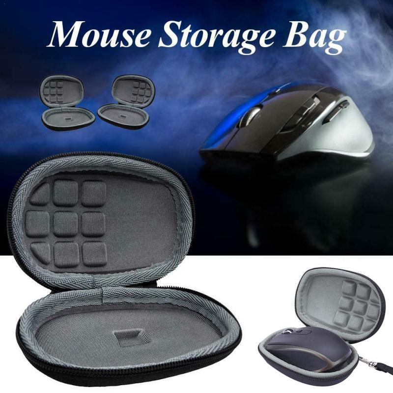 Portable Storage Case Nylon Travel Hard Mouse Storage Case Zipper For Logitech MX Anywhere 2S About 120x85x56mm #909