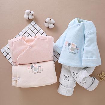 Ubrania dla niemowląt zestaw bielizny dla niemowląt zestaw dla niemowląt bawełna dla niemowląt odzież zimowa dla niemowląt zestaw dla niemowląt zestaw dla niemowląt tanie i dobre opinie Na co dzień COTTON Unisex Cartoon Dla dzieci Pasuje prawda na wymiar weź swój normalny rozmiar WS-6004