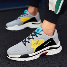 цена на 2019 Autumn New Arrival  Casual Mens Shoes Fall Mesh Breathable Sports Running Shoes Men's Fashion Thick Soles Shoes Size 39-44