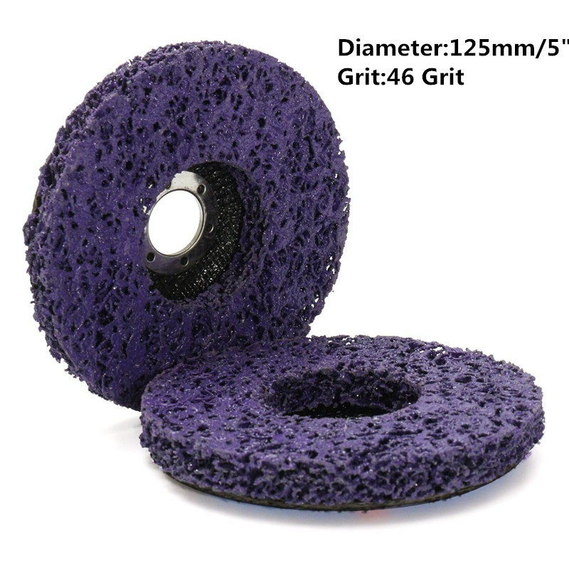 2Pcs/set 125mmx22mm/115x22mm 5 Inch 46Grit Grinding Disc Wheel Purple Black Blue For Angle Grinder Abrasive Tool