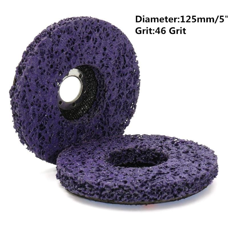 2Pcs/set 125mmx22mm/115x22mm 5 Inch 46Grit Grinding Disc Wheel Purple Black Blue For Angle Grinder Abrasive Tool