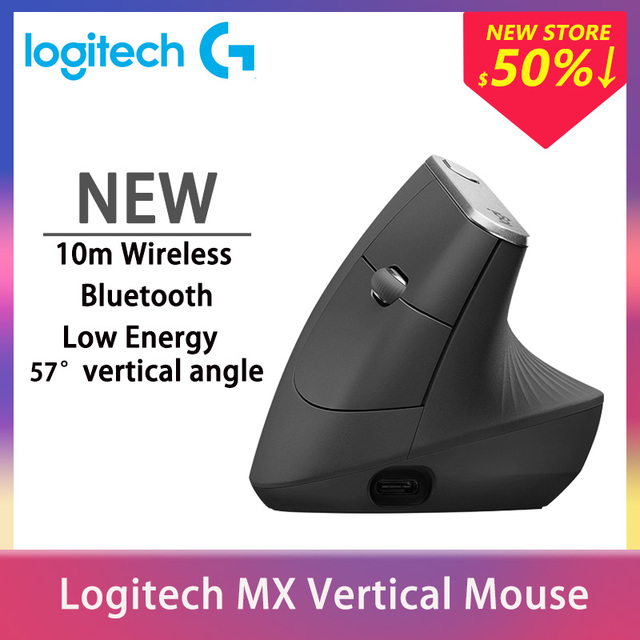Logitech MX Vertical Wireless Bluetooth Mouse Mice With FLOW 2.4GHz USB Nano For Laptop PC Gaming 1
