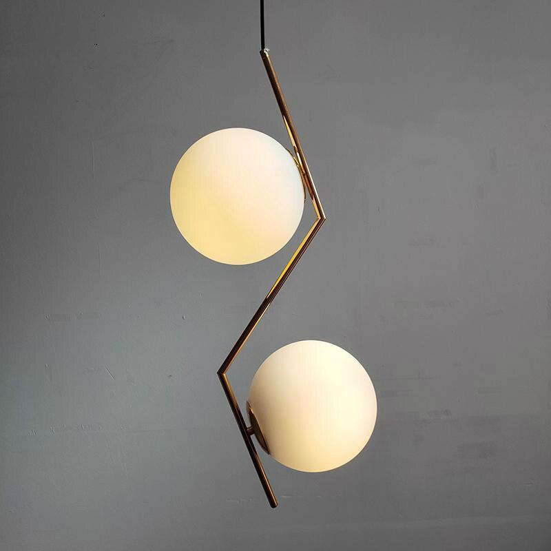 Nordic Led Round Glass Ball Pendant Lights Lighting Glod Industrial Hanging Lamp Dining Room Bar Kitchen Pendant Lamp Luminaire