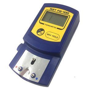 FG 100 pontas de ferro de solda digital termômetro testador de temperatura para pontas de ferro de solda + 5pcs sem chumbo sensores 0 700c|Pontas solda| |  -