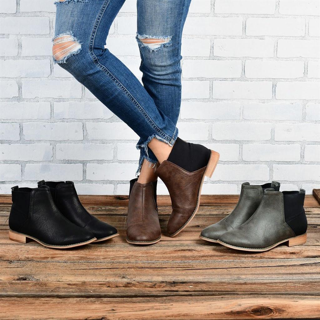 Fashion Women Suqare Heels Slip On Hit