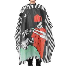 160 x 140cm Barber Cape Hairdressing Apron Hair Cutting Dyeing Gown Cape for Home Barber Shop(China)