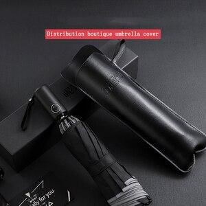 Image 2 - 自動傘逆折りたたみビジネス傘反射ストリップ傘雨男性女性防風男性パラソル
